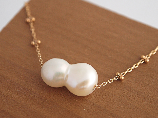 K10 Twin Pearl Necklace