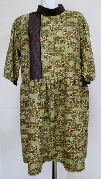 着物リメイク 着物で作ったチュニックワンピース 1812
