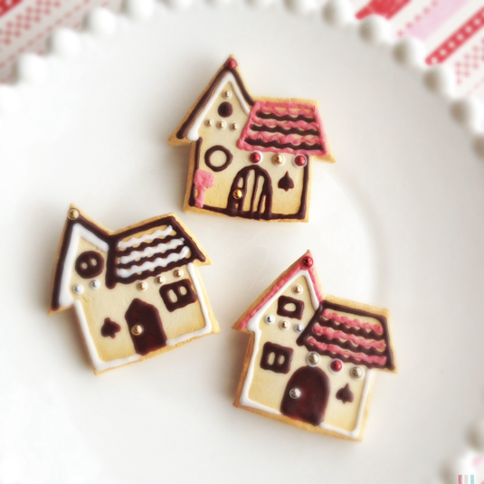 きょうだい屋根のおうちの、クッキーブローチ △