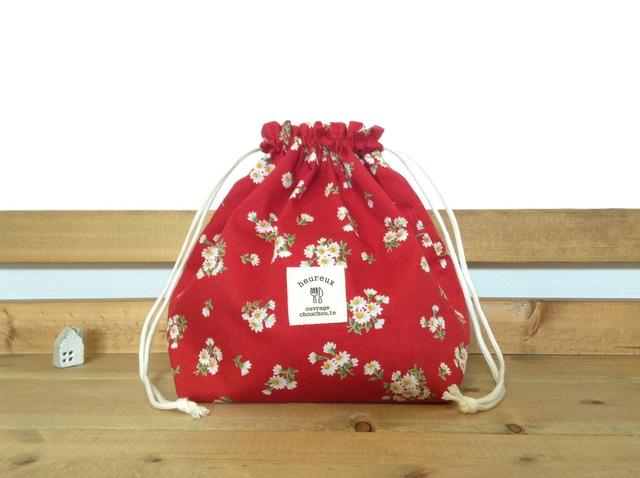 *可愛い花柄*巾着袋*お弁当袋・ランチバッグ♪
