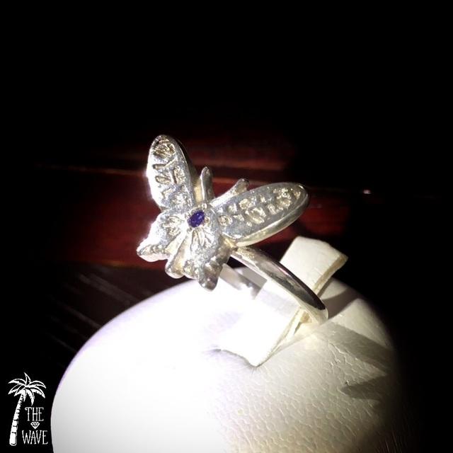 アメジストのButterfly Ring  -silver-