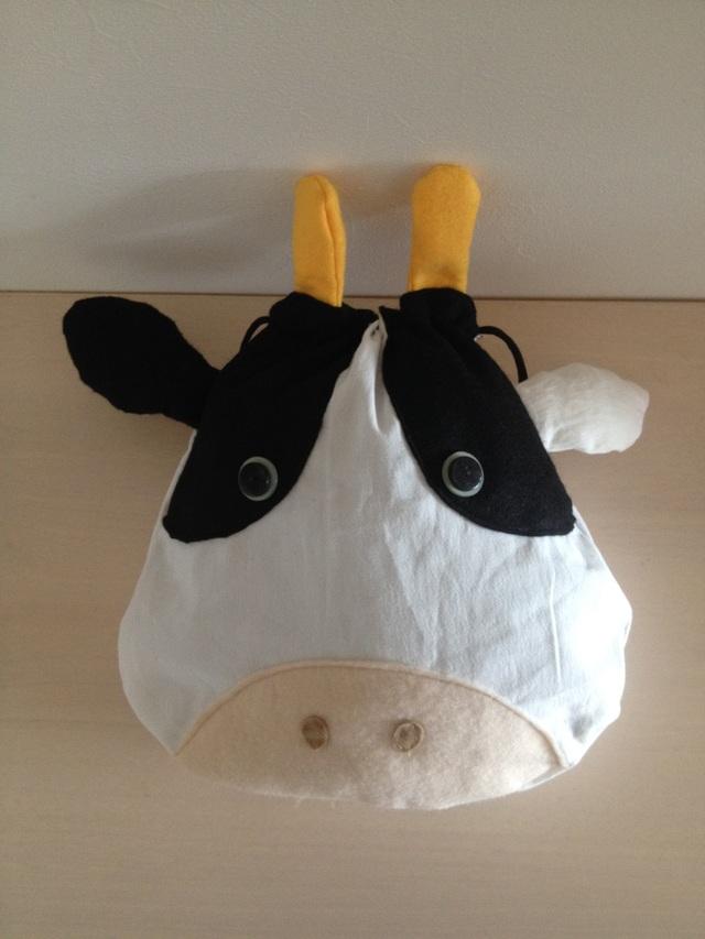 牛さんの巾着