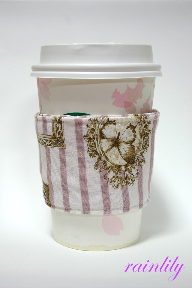 Cup sleeve -pink frame-