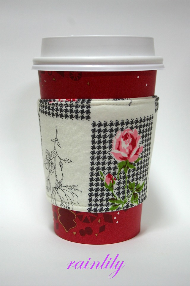 Cup sleeve -rose-