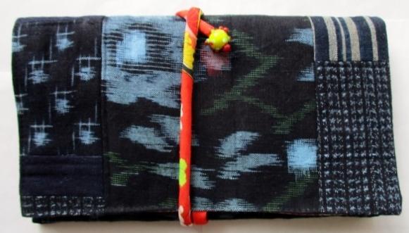 着物リメイク 絣で作った和風財布 1819
