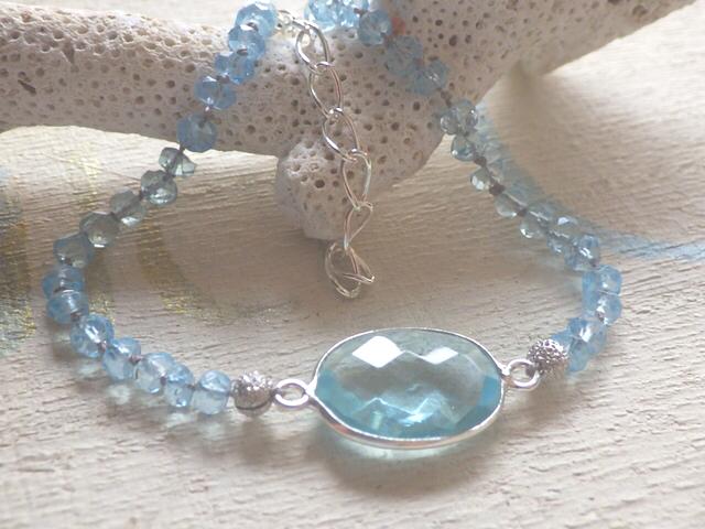 Framed Aquamarin Bracelet *sv925*