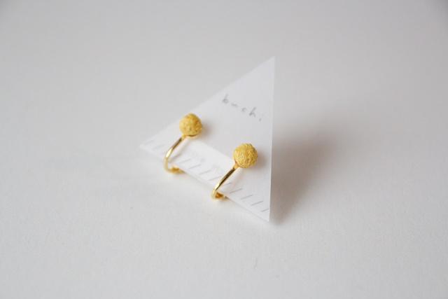 ito earring【おちついた黄色】