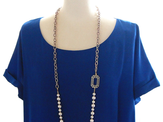Cotton Pearl 5way Necklace