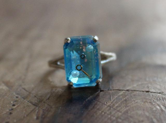 購買部173:シリウス金剛石の指輪/水碧色(長方形)2