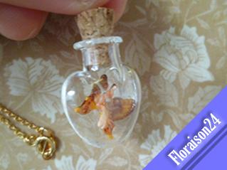 『ハート小瓶の妖精』オレンジ