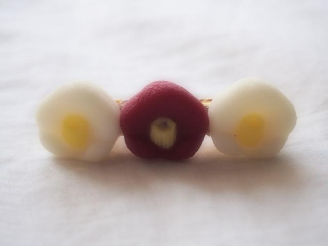 砂糖菓子バレッタ(椿)