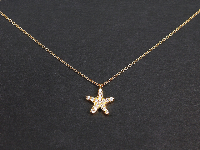 14KGF Star Necklace