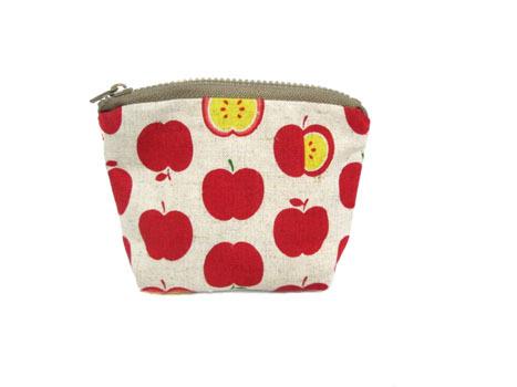 ファスナー付き・ミニポーチ★赤りんご