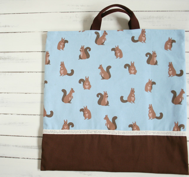 入園入学準備 おしゃれりすの大きめ手提げバッグ