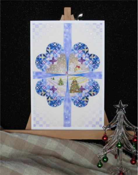 ?クリスマスの一日キラキラカードと別のカード 2種類セット