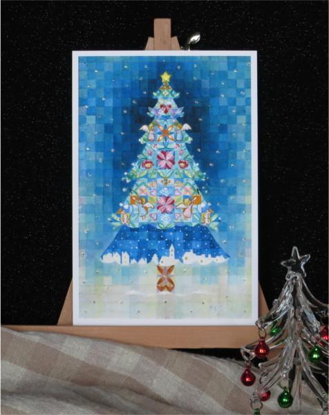 ?静かなクリスマスの夜キラキラカードと別のカード 2種類セット
