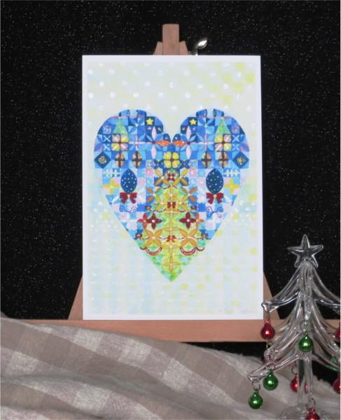 ?クリスマスパーティーキラキラカードと別のカード 2種類セット