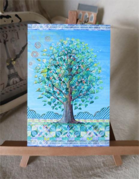 ?緑のきらめきキラキラカードと別のカード 2種類セット