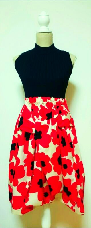 no1**flare skirt **Nordic region FLOWER**