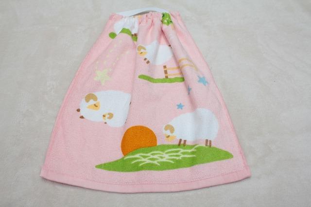 タオルエプロン ひつじ(ピンク)