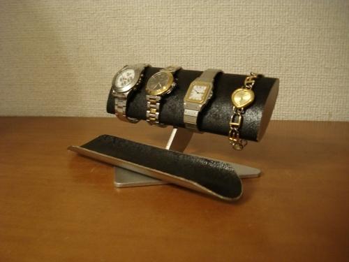 彼氏へのプレゼントに! 幅広だ円パイプ腕時計スタンド 男性用 ak-design