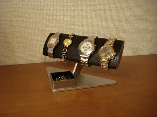 誕生日プレゼントに! 腕周り太い方用幅広だ円パイプブラック腕時計スタンド 男性用