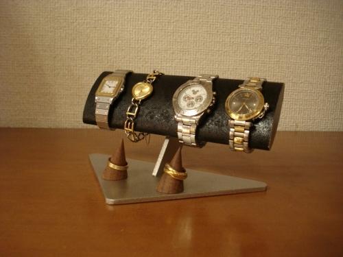 幅広だ円パイプ腕周り太い用方時計スタンド 指輪スタンド付き(未固定) ak-design