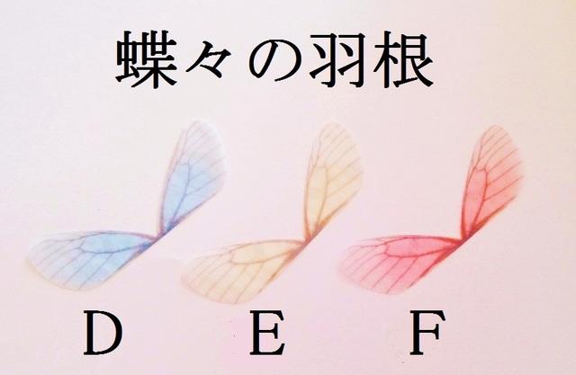 【E】 蝶々の羽根