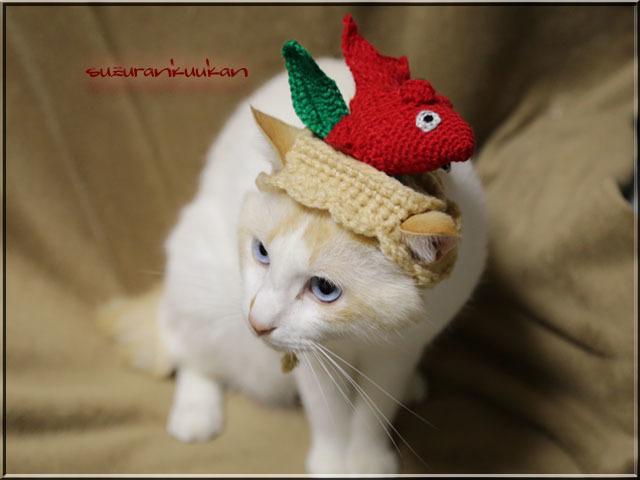 ★受注制作★乗っけ編みめで鯛ハット