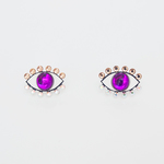 Medama Pierces / Earrings(S) -purple-