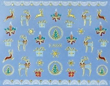 【レジン・ネイル】 クリスマス 高品質ネイルシール TJ059