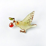 CHERRY-BIRD BROOCH