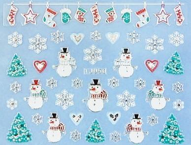 【レジン・ネイル】 クリスマス 高品質ネイルシール TJ050