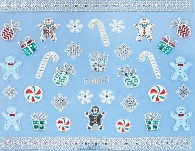 【レジン・ネイル】 クリスマス 高品質ネイルシール TJ052