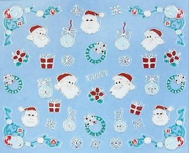 【レジン・ネイル】 クリスマス 高品質ネイルシール TJ053