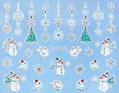 【レジン・ネイル】 クリスマス 高品質ネイルシール TJ054