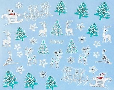 【レジン・ネイル】 クリスマス 高品質ネイルシール TJ057