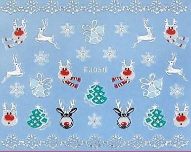 【レジン・ネイル】 クリスマス 高品質ネイルシール TJ058