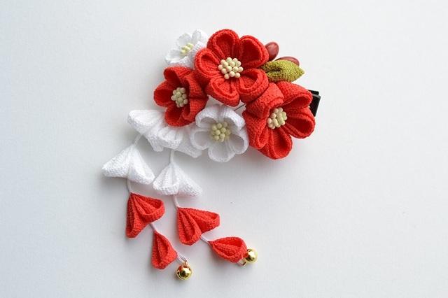 tumami*七五三(紅白) クリップ【受注生産】