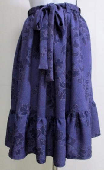 着物リメイク 着物で作った膝丈スカート 1833
