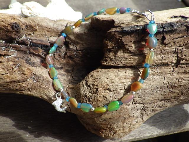 Opal Dolphin Bracelet sv925