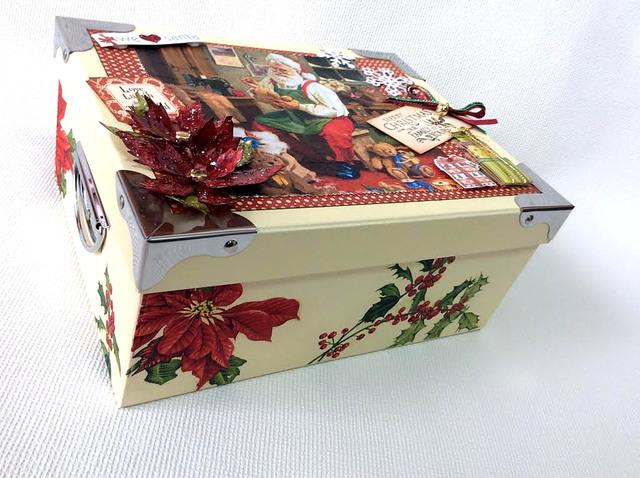 クリスマス コラージュBOX金具つきL
