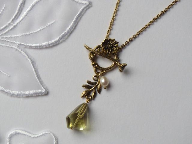 レモンスモーキークォーツのネックレス