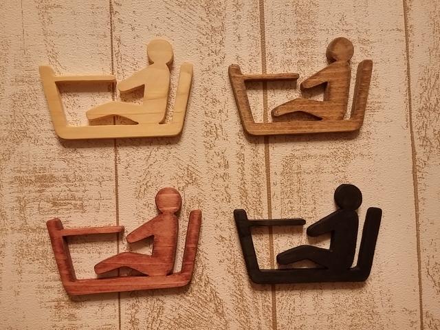 木製バスルームサイン☆バスルームピクト☆色を選べます