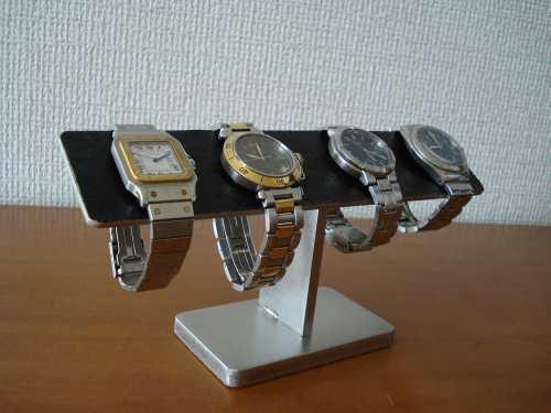 お誕生日プレゼントに!4本掛けブラックバー腕時計スタンド ak-design