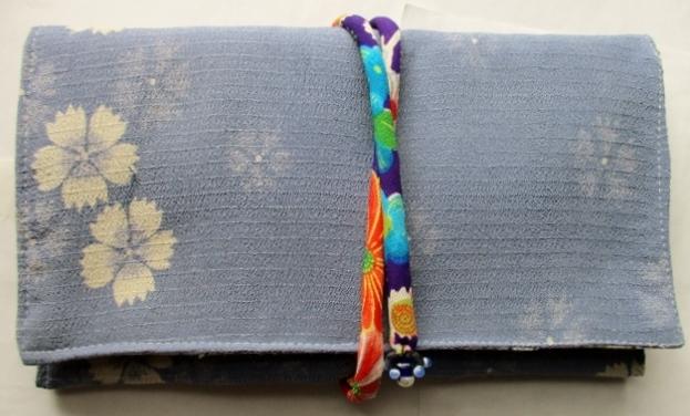着物リメイク 絽の着物で作った和風財布 1834