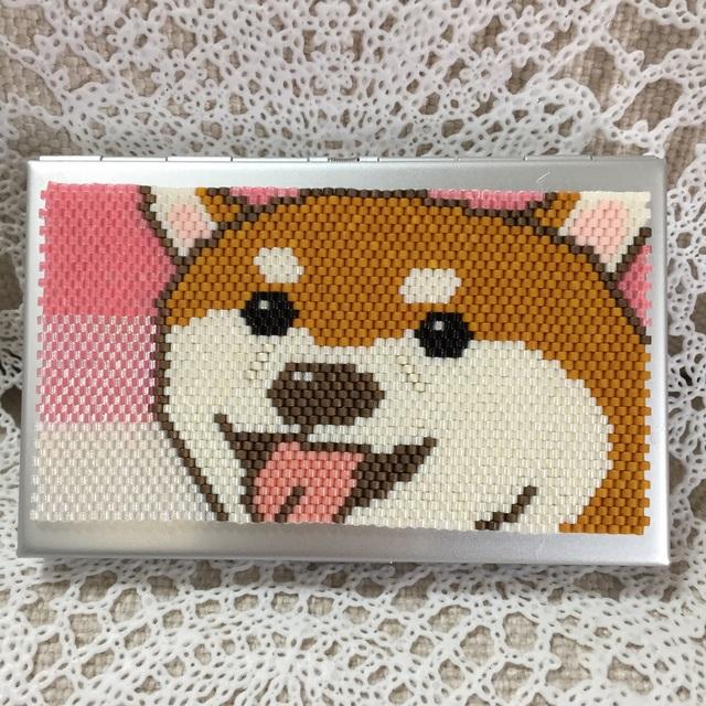 カードケース(笑顔のワンコ-柴犬?)