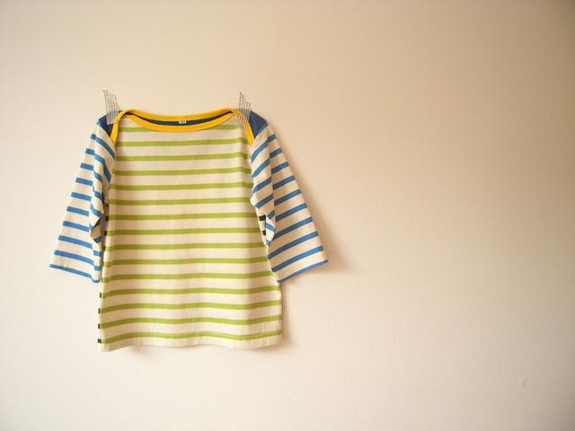 クロスショルダー七分丈Tシャツ*110size