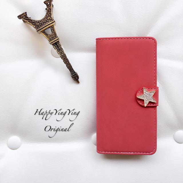 【iphone6.6S】大きめキラキラ星赤色★スタービジュー