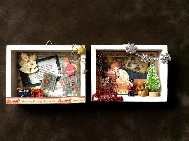 クリスマス コラージュスモールシャドーBOX2個セット